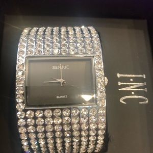 Stunning Rhinestone Cuff Watch New Bride Birthday